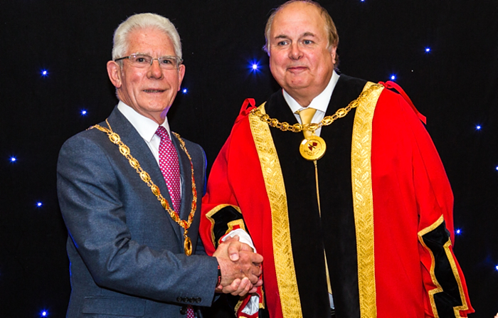 New Mayor David Marren and Deputy Mayor Arthur Moran