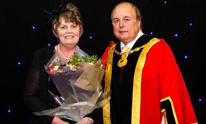 New Mayor David Marren and wife and consort Belinda