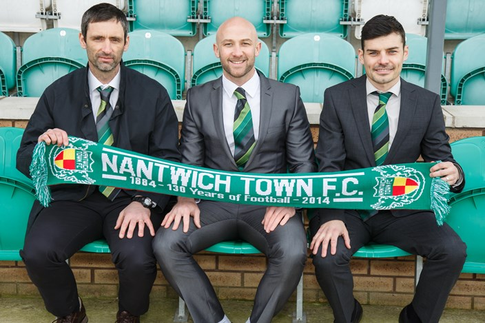 Nantwich Town FC Appoints a new managerial team - Phil Parkinson, Neil Sorvel and Danny Griggs