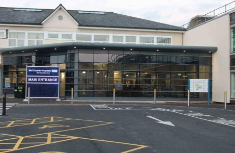 New main entrance at Leighton Hospital