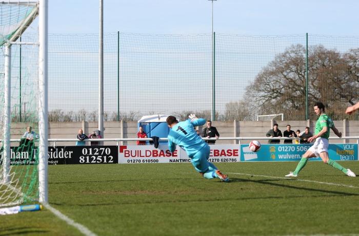 Nicky Platt opener for Nantwich Town against Witton Albion
