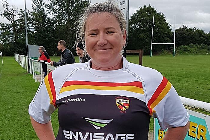 Nicola Joyce, new chairperson at Crewe & Nantwich RUFC