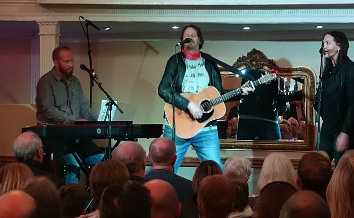 Nigel Stonier performs with pianist and Thea Gilmore at The Crown Ballroom