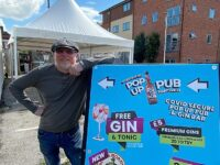 Nigel Woodhouse at his new pop up Pub & Gin Bar