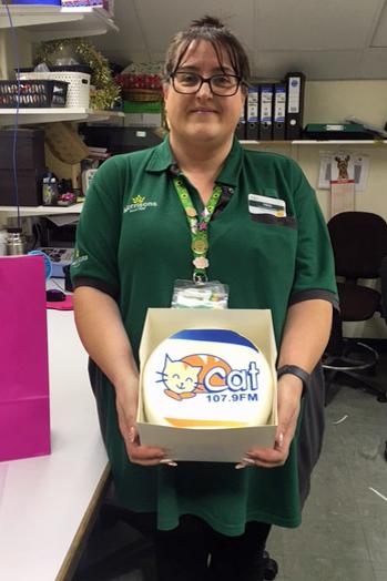 Nikki Allen with Cake
