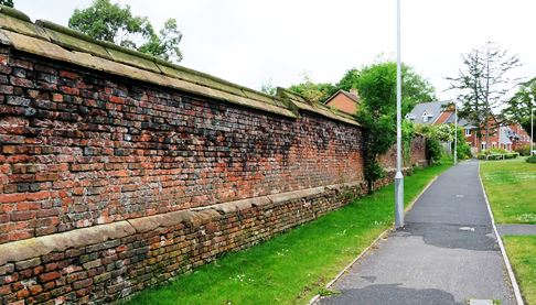 North wall of Nantwich Walled Garden