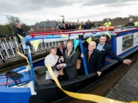 © Mike Poloway/+44(0)1618503338 / mike@poloway.com. Nantwich Aqueduct opening after renovations.9 December 2015