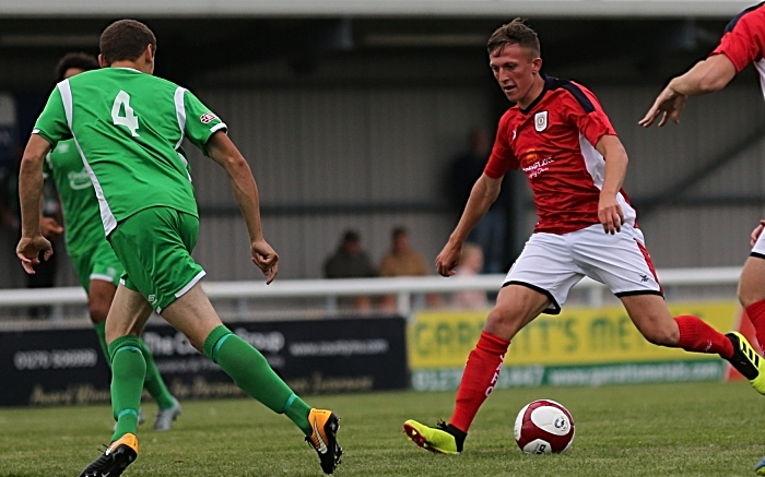 Oli Finney on the ball for Crewe Alex (1)