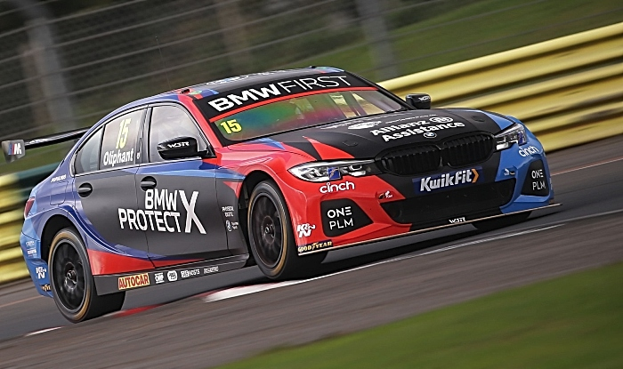 driver Oliphant at Croft in BMW