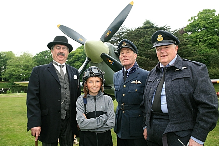 Oliver Corn, 11 yrs, with Richard Gumm, Stephen Heappey and Mark Anthony Craig WW2 Spitfire (1)