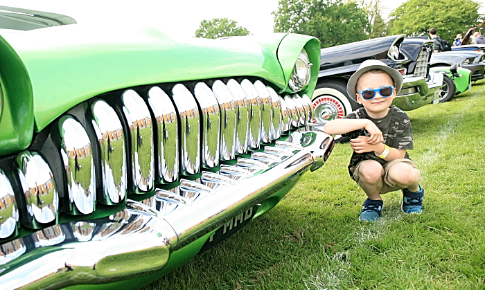 Oliver Cornes, 5, American muscle car