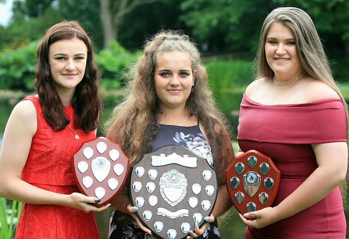 P5 equine L3 top students Eleanor Dickenson, Georgina Boyd, Phillippa Vaughan