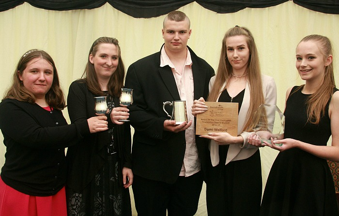 P9 Courtney Brown, Sarah McKay,David Skinner, Demi Welford, Chloe Cashmore