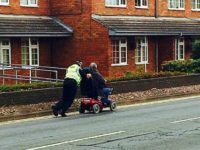 Nantwich officer pushed stranded pensioner's scooter a mile home