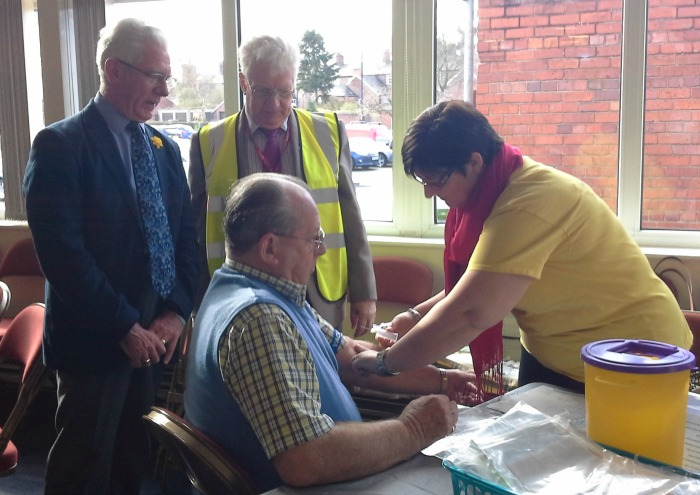 PSA blood testing in Nantwich Civic Hall