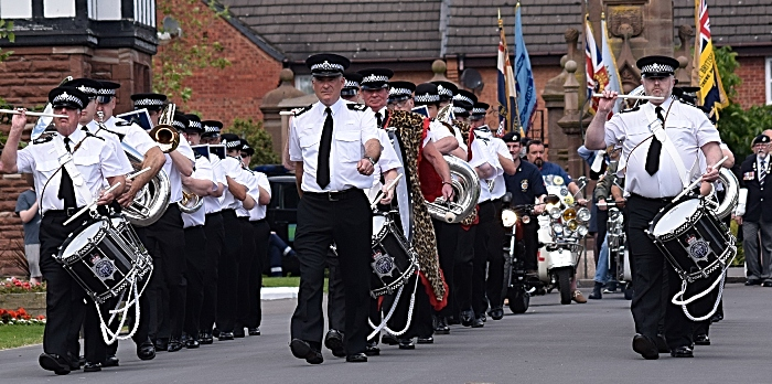 Parade - led by The Band & Drums of the Cheshire Constabulary (1)