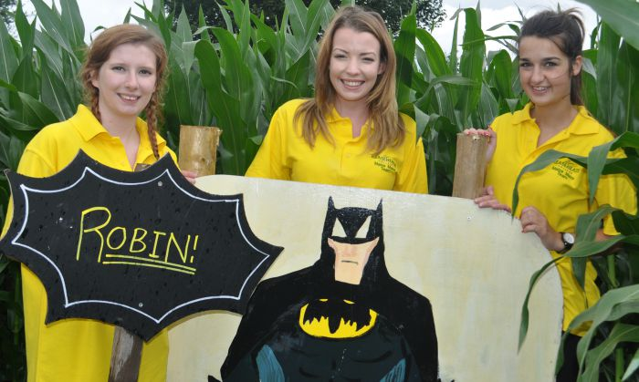 Patricia Taker, Carys Jones and Rosanagh Bailey Superhero maize maze