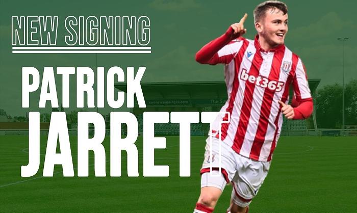 midfielder Patrick Jarrett signs for Nantwich Town - pic courtesy of Nantwich Town FC