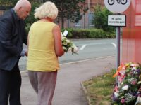 Councillors lay flowers at scene of crane collapse which killed two men