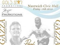 Football legend Gascoigne to appear at Nantwich Civic Hall