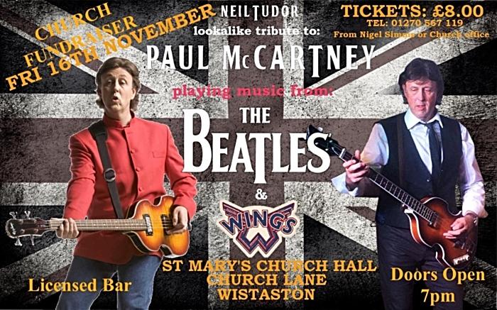 Paul McCartney Tribute Act - Neil Tudor in concert - Wistaston - Fri 16-11-18 (1)