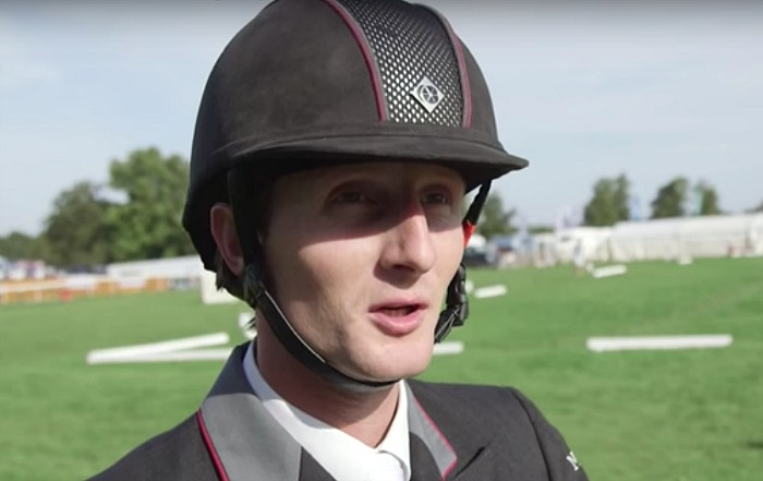 Jockey Paul Sims, Burghley Horse trials