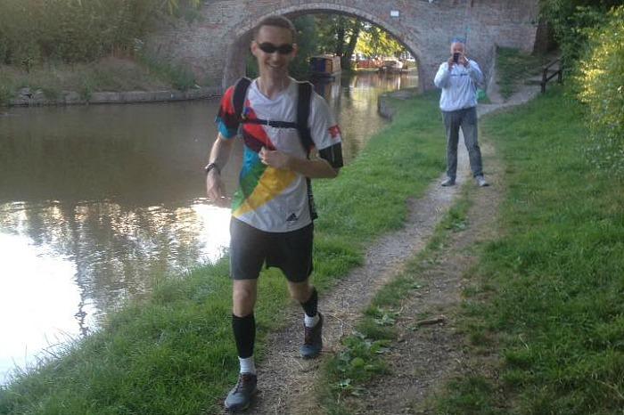 Paul on marathon by canal