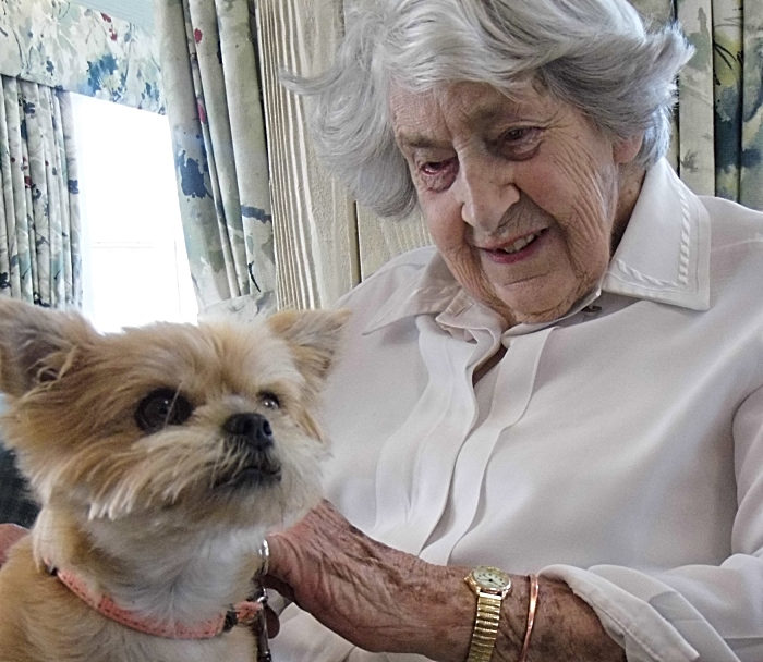 Dog - Pauline Sherriff enjoys a quiet moment with Amber