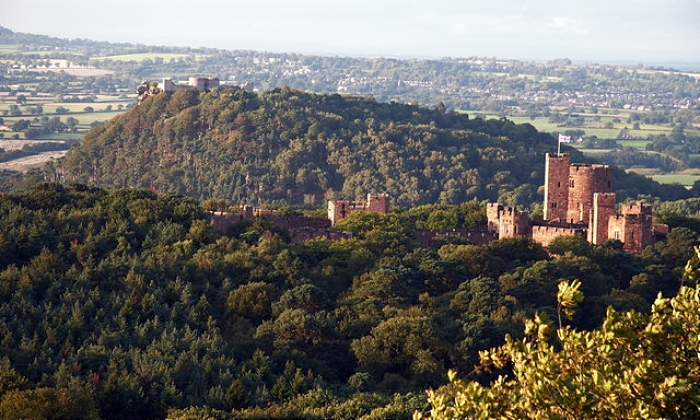 Peckforton Castle and Sandstone Ridge - by Peter Styles, creative commons