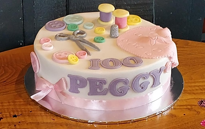 Peggy's 100th birthday cake
