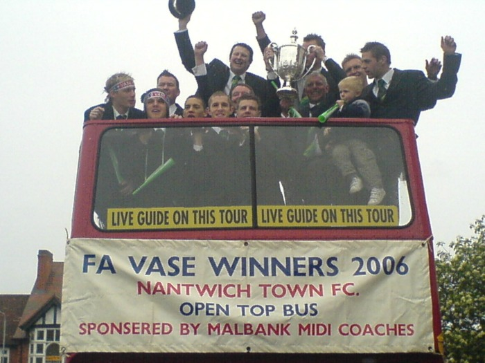 Phil Parkinson captained Nantwich Town to FA Vase glory - pic by Jonathan White, creative commons