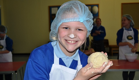 Nantwich youngsters rise to challenge during Roberts Bakery visit