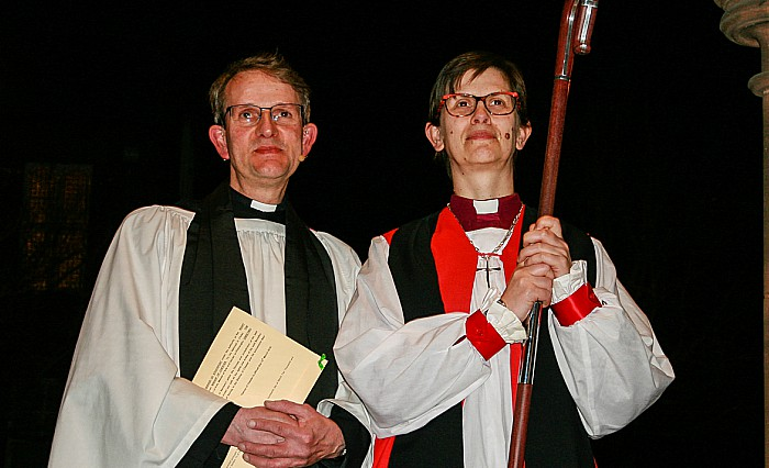Photo attached left, new Rector Mark Hart; right, Bishop Libby Lane