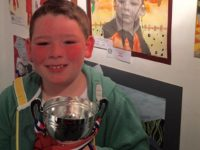 Record entries for Nantwich art and handwriting contest