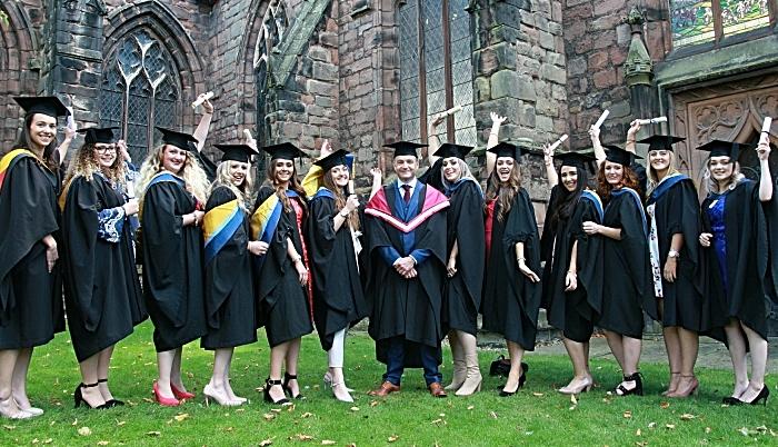 Science graduates with CM Amelia Kenyon