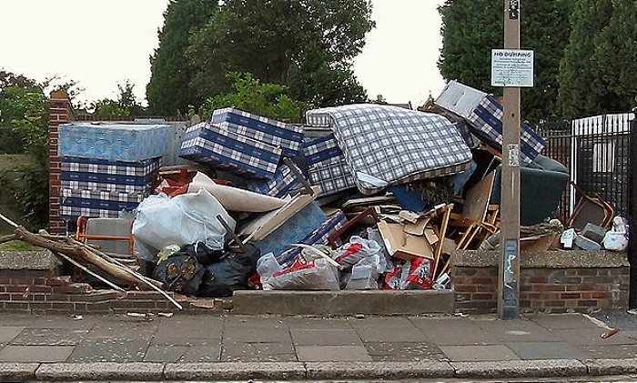 bulky household waste - Pic by Alan Stanton, creative commons licence