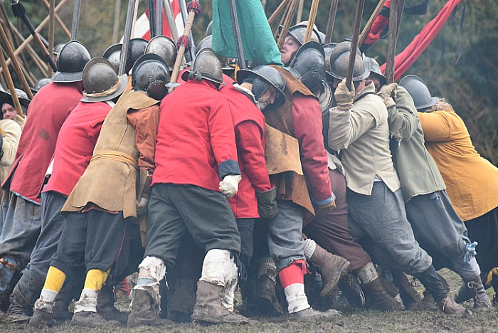 Pikemen engage during the battle