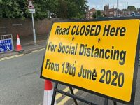 "Nantwich pedestrians ""jumped for our lives"" on closed road"