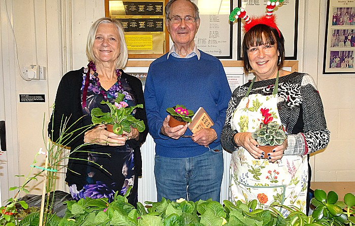 Plant stall-Cllr Marilyn Houston (Crewe Town Council) - Herbert Rowsell - Diane Houston