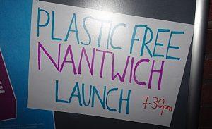 Plastic Free Nantwich launch sign (1)