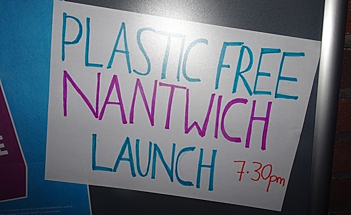 Plastic Free Nantwich launch sign (1)