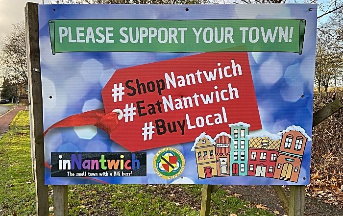Please support your town sign on Crewe Road (1)