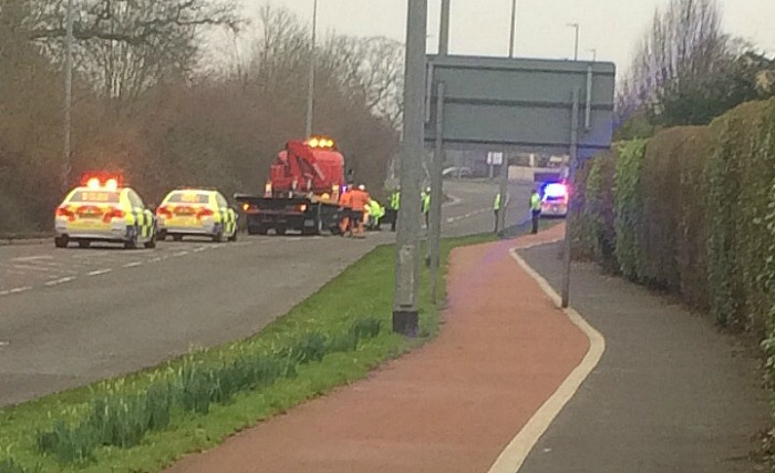 Police incident on Peter de Stapleigh Way in Nantwich