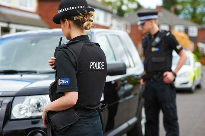 HMIC crime recording - Police officers in Operation Hatay in Cheshire