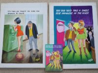 Saucy postcards artwork on sale at Nantwich auction