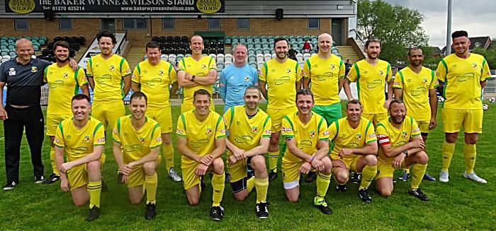 Pre-match - Nantwich Town Veterans squad (1)