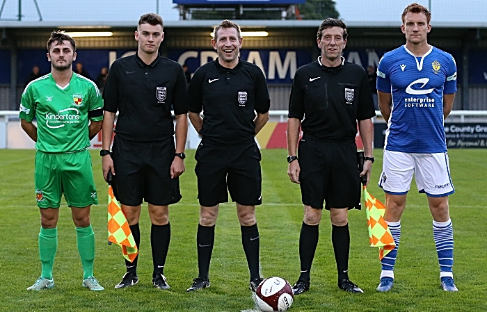 Pre-match - club captains and match officials (1)
