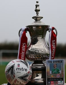Pre-match - official FA Cup match-ball - programme - plus FA Cup Trophy (1)