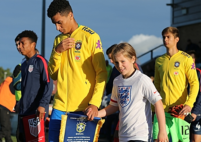 Pre-match - players and mascots enter field (1)