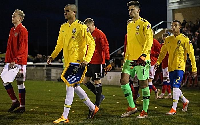 Pre-match - teams enter the pitch
